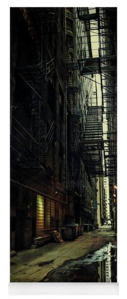 Dark Chicago Alley Yoga Mat