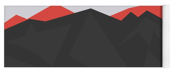 Dark Mountains With Bright Mountain Background Yoga Mat