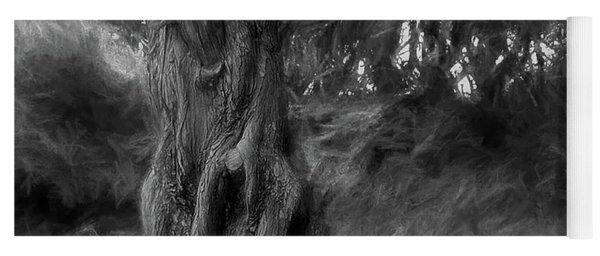Dark Wind In The Cedars Yoga Mat
