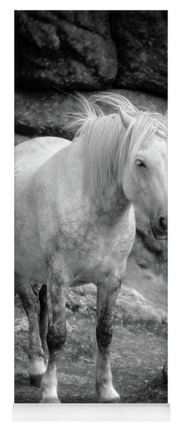 Dartmoor Pony, Black And White Yoga Mat