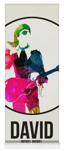 David Bowie Watercolor Yoga Mat