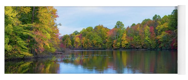 Davidson's Mill Pond Autumn Panorama  Yoga Mat