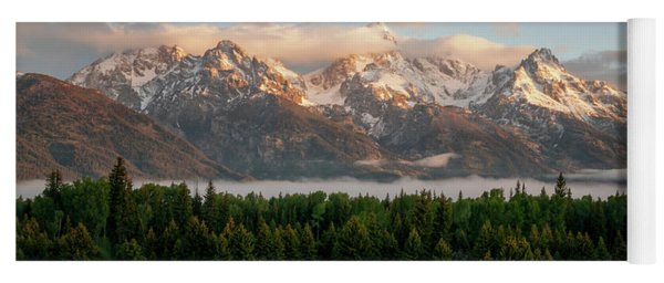 Dawn At Grand Teton National Park Yoga Mat