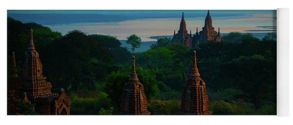 Dawn In Bagan Yoga Mat