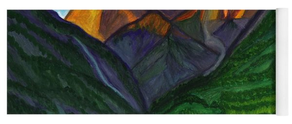 Sunrise In The Mountains Yoga Mat
