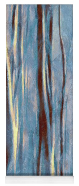 Dawn In The Winter Forest - Landscape Mood Lighting Yoga Mat