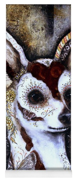 Day Of The Dead Chihuahua Yoga Mat