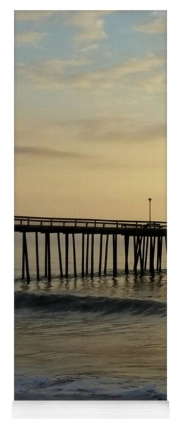 Yoga Mat featuring the photograph Daybreak Over The Ocean 1 by Robert Banach