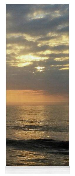 Yoga Mat featuring the photograph Daybreak Over The Ocean 3 by Robert Banach