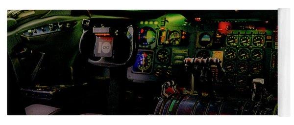 Dc10 Cockpit Left Hand Seat 521210021 Yoga Mat