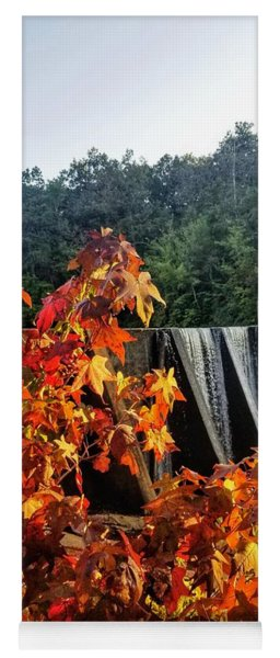 Yoga Mat featuring the photograph De Soto Falls In Autumn by Rachel Hannah