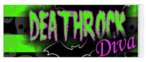 Deathrock Diva Graphic Yoga Mat