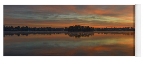 Yoga Mat featuring the photograph December Sunrise Over Spring Lake by Beth Sawickie