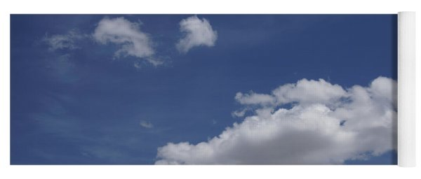 Deep Blue Sky And Fluffy Cumulous Cloud Yoga Mat