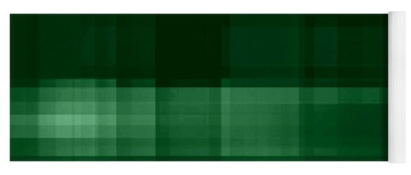 Yoga Mat featuring the digital art Deep Green Plaid by Rachel Hannah