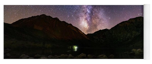 Yoga Mat featuring the photograph Deep Sky Fishing by Tassanee Angiolillo
