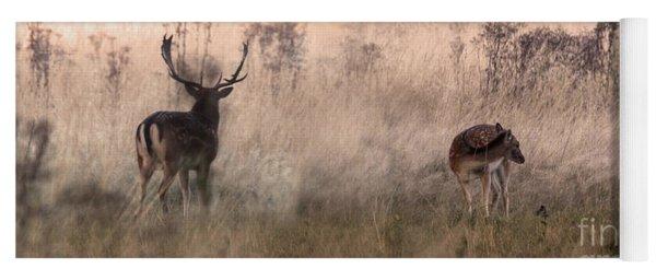 Deer In The Grasses Yoga Mat
