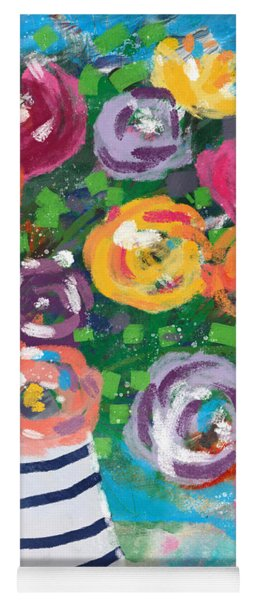 Delightful Bouquet 6- Art By Linda Woods Yoga Mat