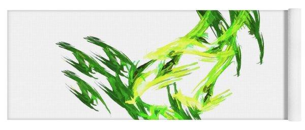 Deluxe Throwing Star Green Yoga Mat