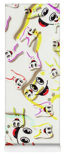 Dental Clinic Caricatures Yoga Mat