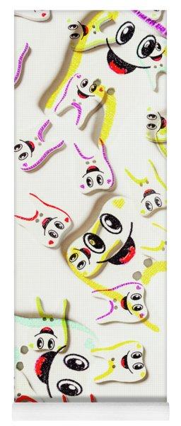 Dental Clinic Caricatures Yoga Mat