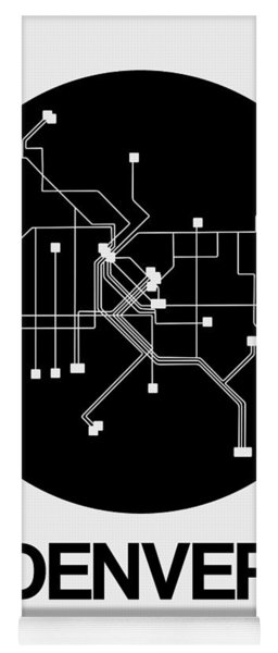 Denver Black Subway Map Yoga Mat