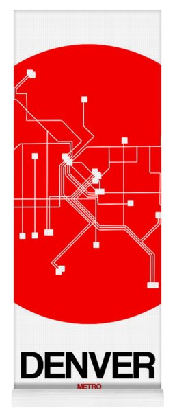 Denver Red Subway Map Yoga Mat