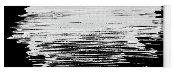 Denver Skyline Brush Stroke White Yoga Mat