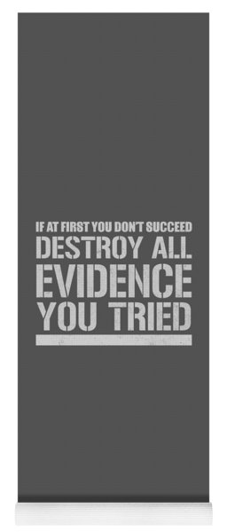 Destroy Evidence Yoga Mat