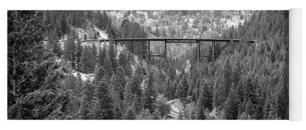 Yoga Mat featuring the photograph Devils Gate In Black And White by Jon Burch Photography