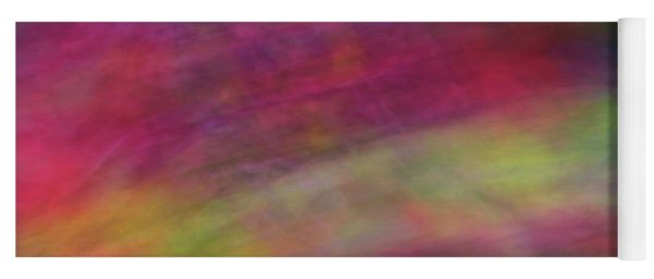 Diagonal Soft Abstract Diagonal Lines Rainbow Colors Background Artwork Yoga Mat