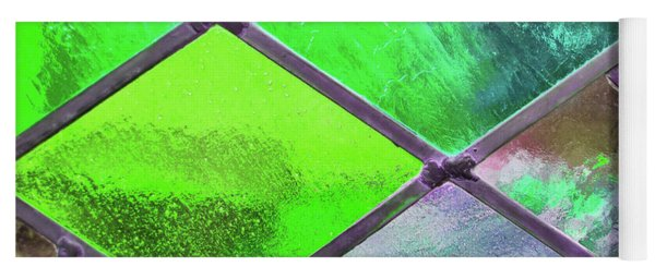 Diamond Pane Glass Green Yoga Mat