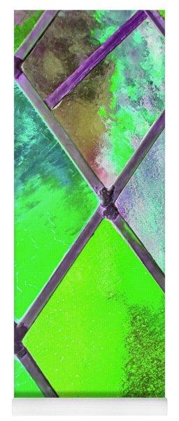 Diamond Pane Green Yoga Mat
