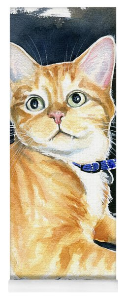 Diego Ginger Tabby Cat Painting Yoga Mat