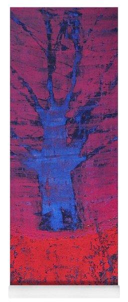 Disappearing Tree Original Painting Yoga Mat