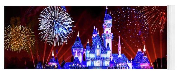 Disneyland 60th Anniversary Fireworks Yoga Mat