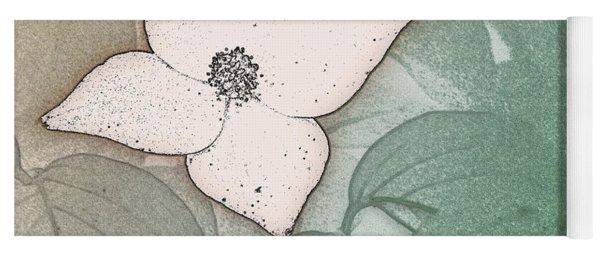 Dogwood Flower Stencil On Sandstone Yoga Mat