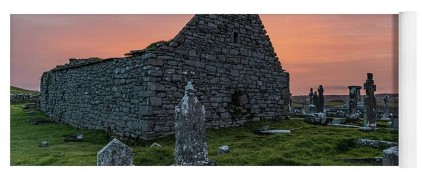 Doolin Ireland Graveyard At Sunrise Yoga Mat