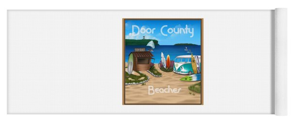 Door County Beaches Yoga Mat