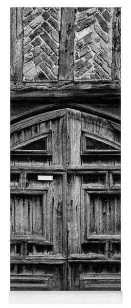 Door To A Black And White Past Yoga Mat