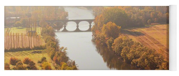 Dordogne River In The Mist Yoga Mat