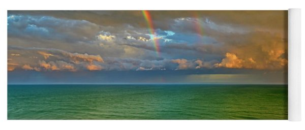 Double Rainbow Myrtle Beach Yoga Mat