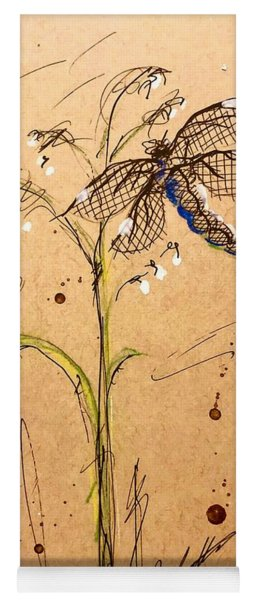 Dragon Fly In Sweetgrass Yoga Mat