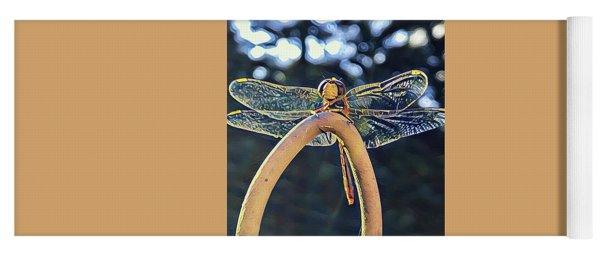 Dragonfly In The Sun  Yoga Mat