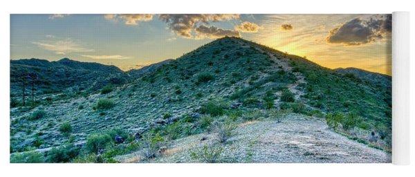 Dramatic Mountain Sunset Yoga Mat