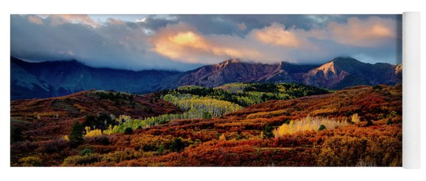 Dramatic Sunrise In The San Juan Mountains Of Colorado Yoga Mat