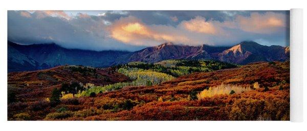 Dramatic Sunrise In The San Juan Mountains Of Colorado Yoga Mat