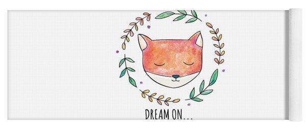 Dream On - Boho Chic Ethnic Nursery Art Poster Print Yoga Mat