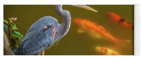 Dreaming Tricolor Heron Yoga Mat
