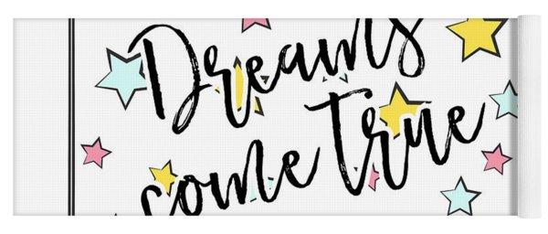 Dreams Come True - Baby Room Nursery Art Poster Print Yoga Mat